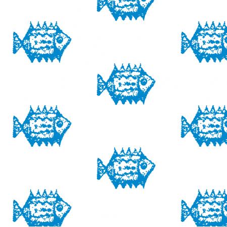 Tkanina 10018 | blue Fish 1