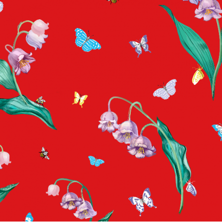 Fabric 10031 | Maylily Red