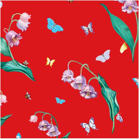 Tkanina 10031 | Maylily Red