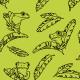Tkanina 10045 | Exotic frogs - lemon