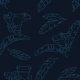 Tkanina 10046 | exotic frogs - dark