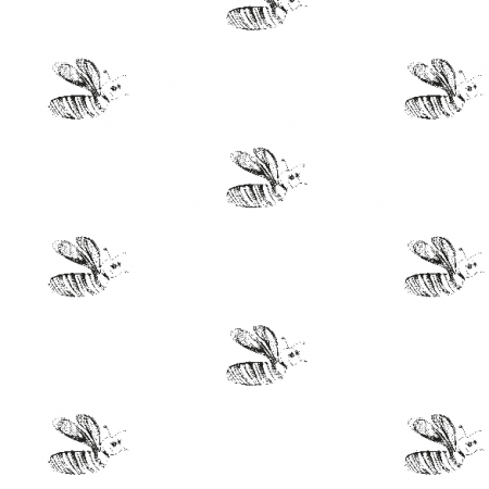 Fabric 10052 | BEE - black and white pattern