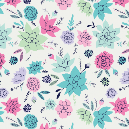 Fabric 10055 | Succulents Hero in pink