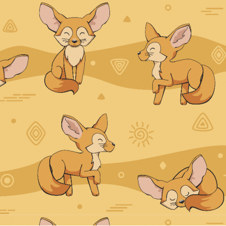 Fabric 10139 | Fennec fox