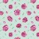 Tkanina 10163   Roses on green