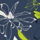Tkanina 10187 | magnolie granat