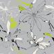 Fabric 10188 | magnolie szary/limonka