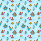 Tkanina 10195 | kury na basenie