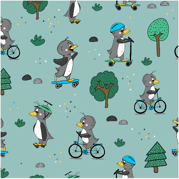 Fabric 10197 | pingwinki