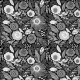 Tkanina 10271 | kwiaty nocy
