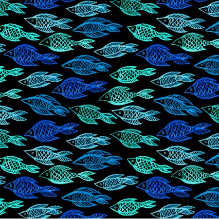 Fabric 10275 | Nocna ryba