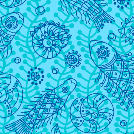 Fabric 10276 | Morski temat - 1