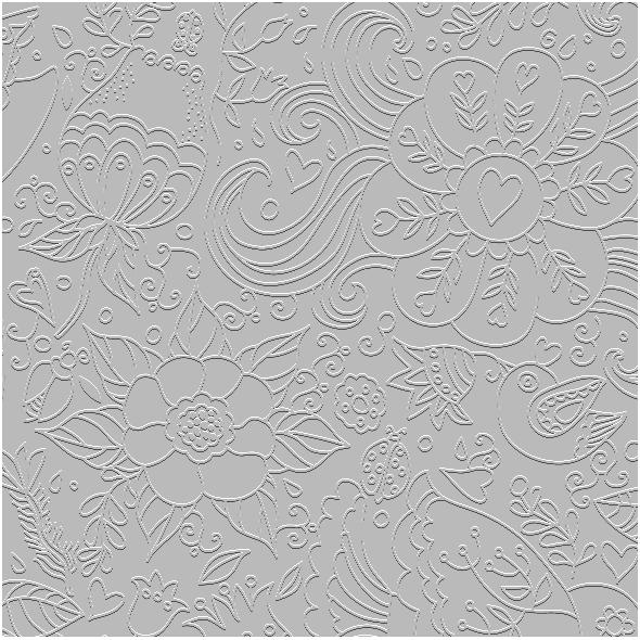 Fabric 10277 | kwiaty i ptaki