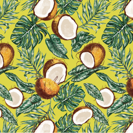 Fabric 10321 | Coconuts & leaves