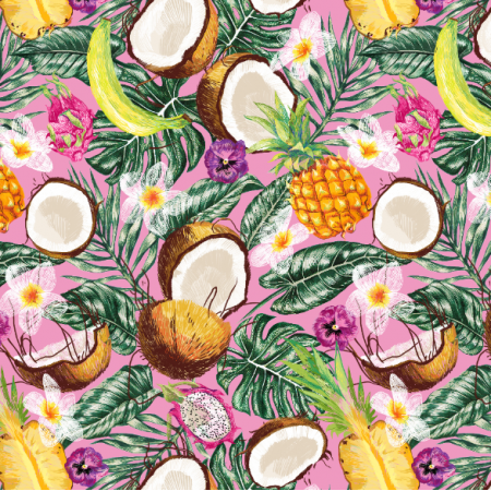 Fabric 10323 | Tropical fruits pink