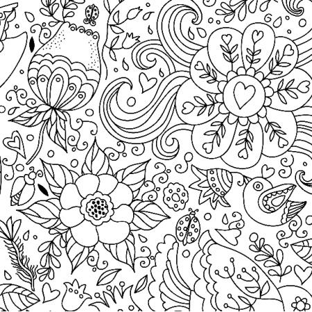 Fabric 10341 | kwiaty czarno-białe