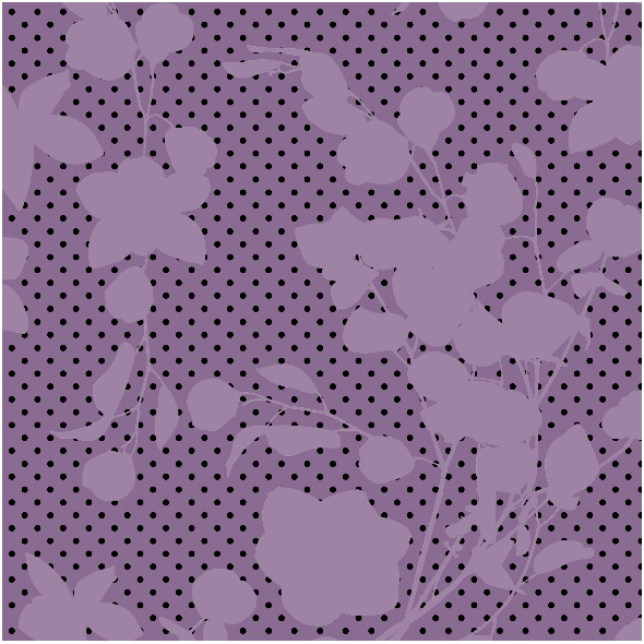 Tkanina 10354 | Violet flowers and dots