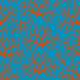 Fabric 10363 | Coral and blue