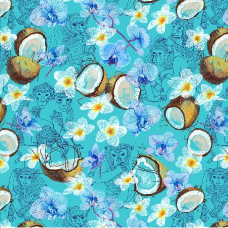 Fabric 10384 | Monkeys & coconuts