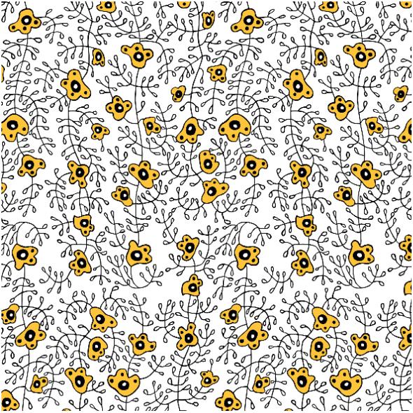Tkanina 10416 | Ukrainian flower small