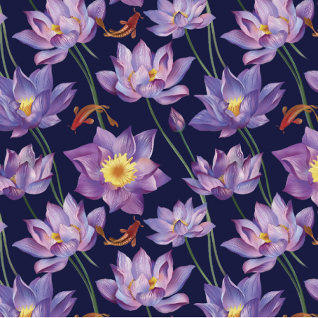 Fabric 10425 | water lily 10