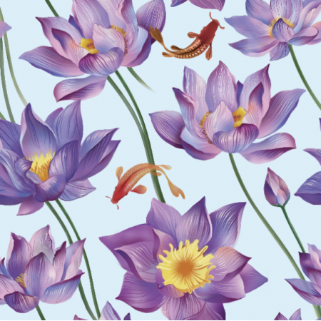 Fabric 10426 | water lily 2