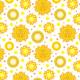Tkanina 10449 | Słonce i gwiazdy