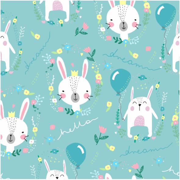 Tkanina 10458 | króliczki
