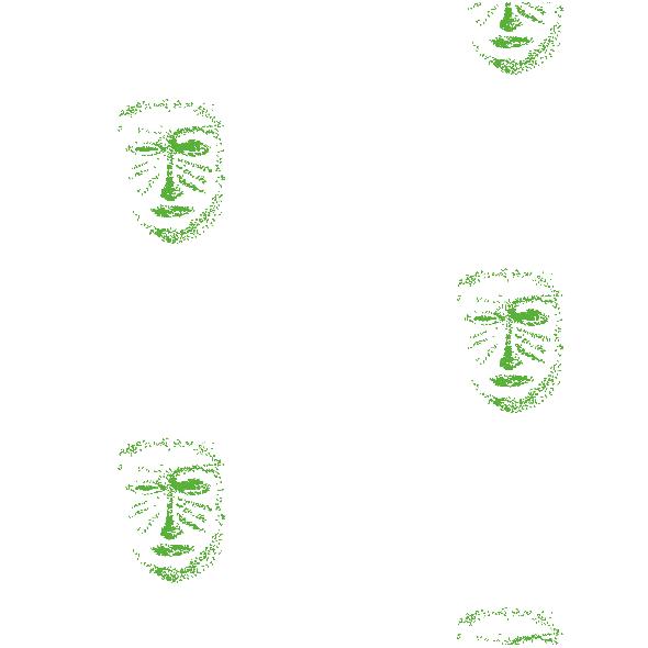 Tkanina 10460   green mask