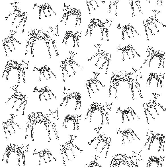 Tkanina 10462 | ANIMALS - BLACK AND WHITE