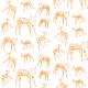 Tkanina 10464 | ORANGE ANIMALS