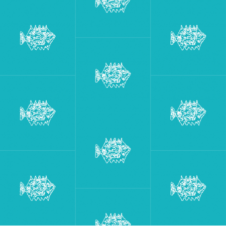 Fabric 10468 | FISHES IN THE OCEAN