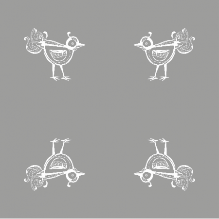 10476 | little bird - white AND grAy