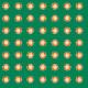 Tkanina 10480 | Rustic flower 2