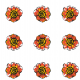 Tkanina 10483 | Rustic flower 4