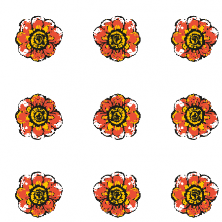 Fabric 10483 | Rustic flower 4