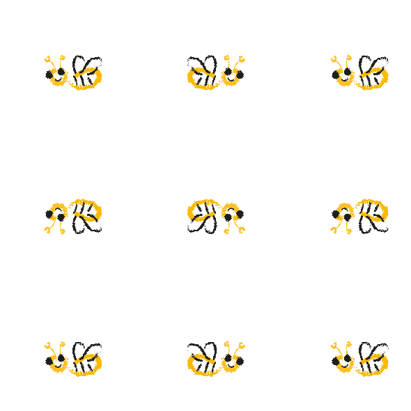 Tkanina 10488 | lITTLE bees 2