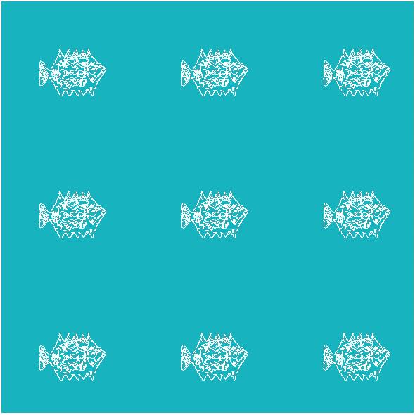 Tkanina 10489 | FISHES IN THE OCEAN 2