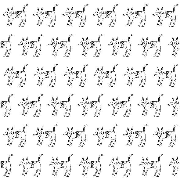 Tkanina 10490 | CAT black and white
