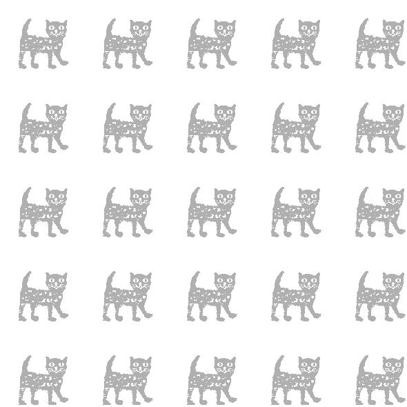 Tkanina 10494 | GrAy happy cat 2