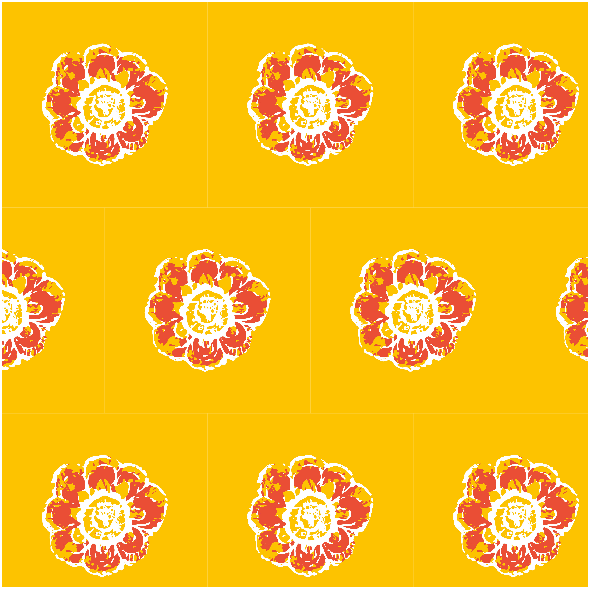 Tkanina 10500 | Rustic flower 3A