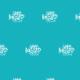 Tkanina 10501 | FISHES IN THE OCEAN 3