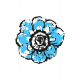 Tkanina 10502 | Rustic flower 6A