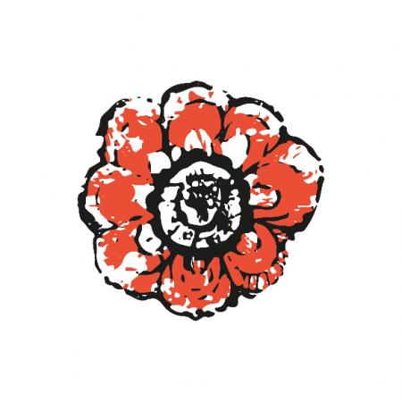 Tkanina 10503 | Rustic flower 5A