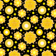 Tkanina 10506 | Słonce i gwiazdy -2