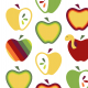 Tkanina 10527 | APPLE TREE - jabłka
