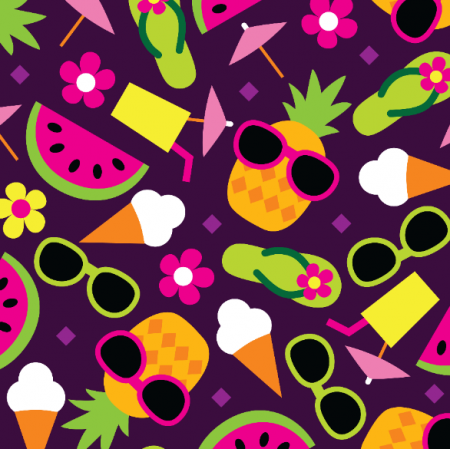 Fabric 10575 | PINEAPPLE WATERMELON ICECREAM
