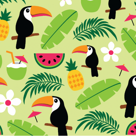Fabric 10577 | TOUCAN TROPICAL SUMMER