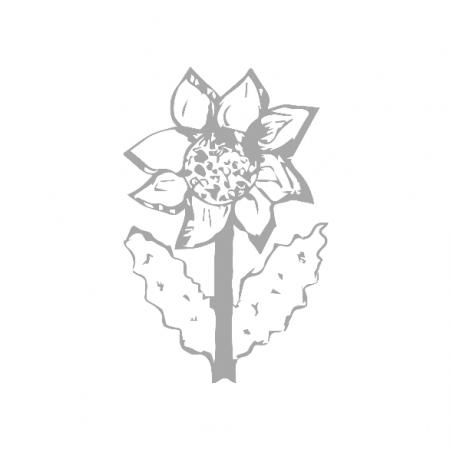 Tkanina 10605 | SUNFLOWER 2 - gray and white pattern