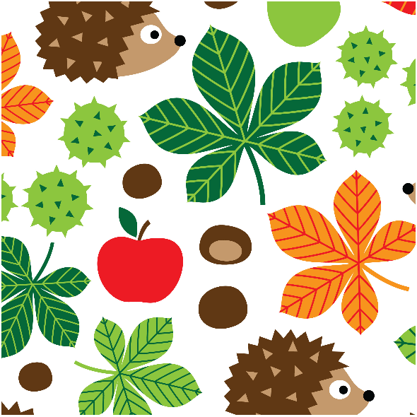 Fabric 10609 | CHESTNUTS & HEDGEHOGS